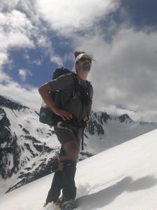 Me, staring down a 7,000' peak